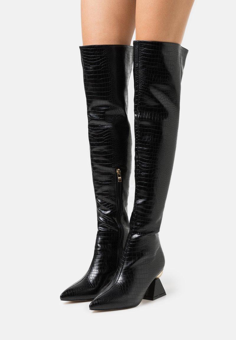RAID - SPIRAL - Kozačky nad kolena - black