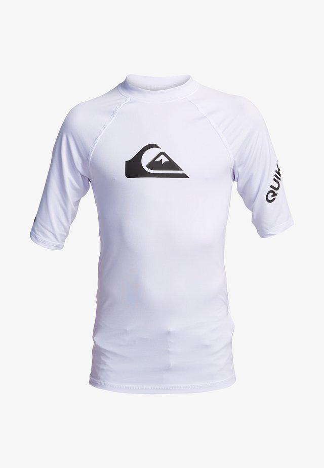 KURZÄRMLIGER RASHGUARD MIT UPF 50 FÜR JUN - Surfshirt - white