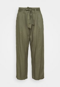 Simply Be - TIE WAIST TROUSERS WITH POCKETS - Trousers - khaki - 0