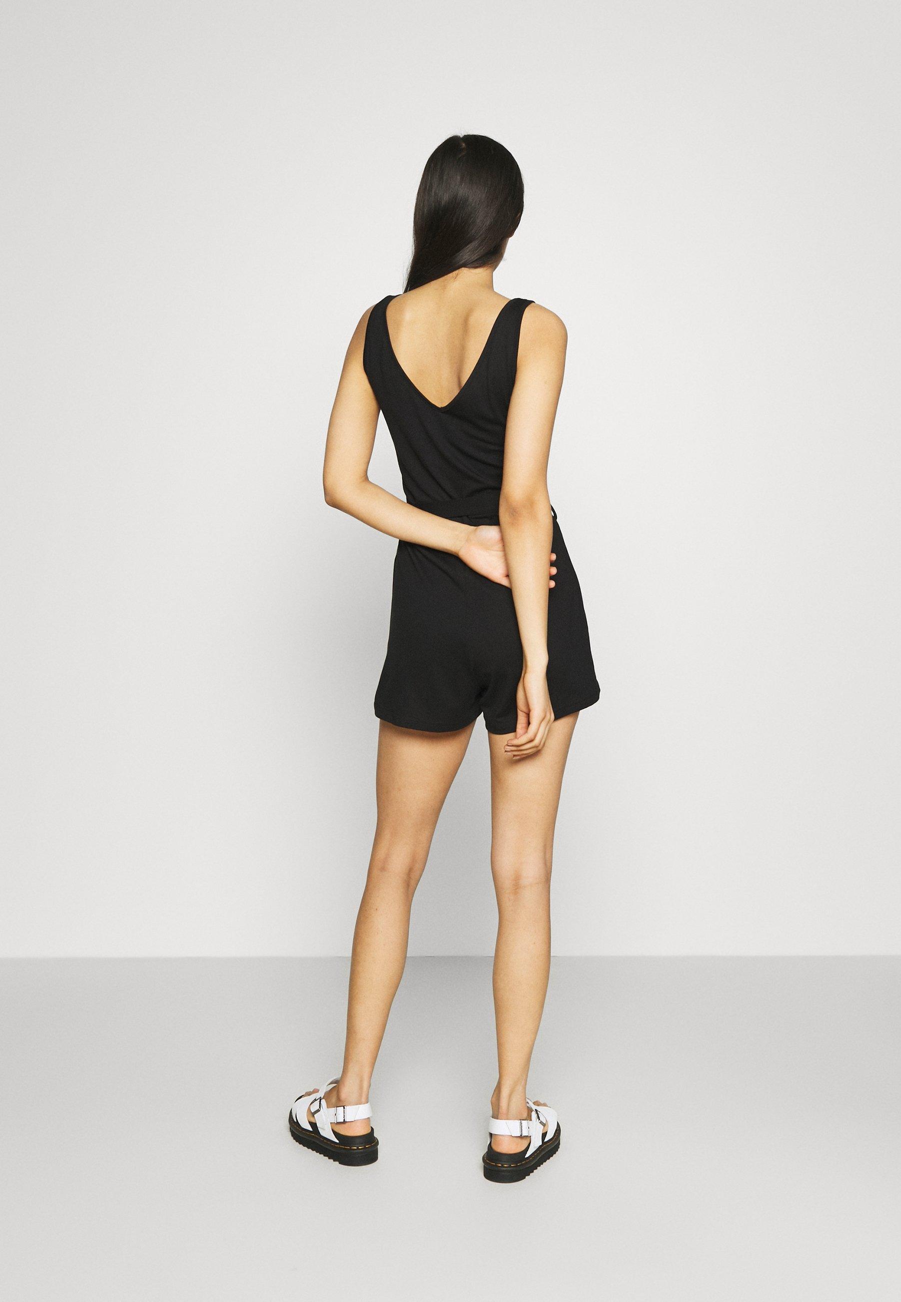 Women BASIC deep v playsuit - Jumpsuit