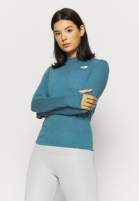 The North Face - W ACTIVE TRAIL WOOL L/S - Funktionsshirt - mallardblueheather - 0