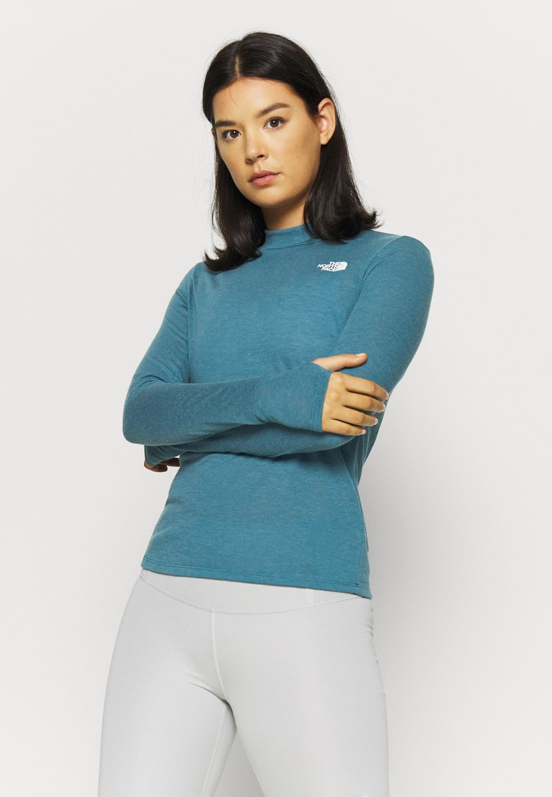The North Face - W ACTIVE TRAIL WOOL L/S - Funktionsshirt - mallardblueheather