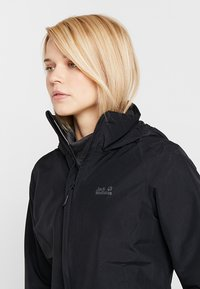 Jack Wolfskin - STORMY POINT JACKET  - Kurtka Outdoor - black - 10