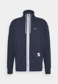SOLID TRACK JACKET - Zip-up sweatshirt - blue