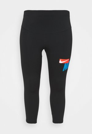 ONE CROP  - 3/4 sports trousers - black/lt photo blue/chile red/white