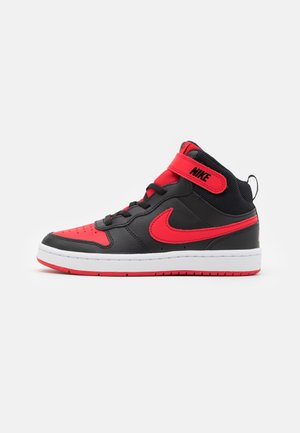 COURT BOROUGH MID 2 UNISEX - Sneakersy wysokie - black/university red/white