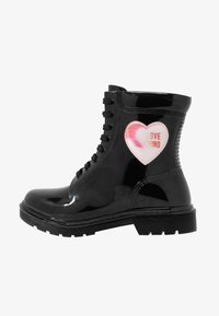 Love Moschino - RAIN LOVE - Lace-up ankle boots - black - 1
