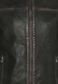 Goosecraft - BRENTWOOD BIKER - Kožená bunda - black - 6