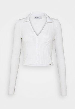SLIM BUTTON - Cardigan - white