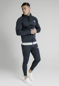 SIKSILK - SCOPE TAPE ZIP THROUGH HOODIE - Felpa aperta - navy - 1