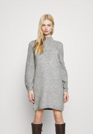 ONLPIL HIGHNECK DRESS  - Jumper dress - light grey melange