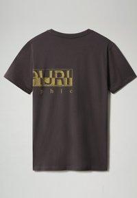 Napapijri - SALLAR LOGO - T-shirt print - dark grey solid - 4