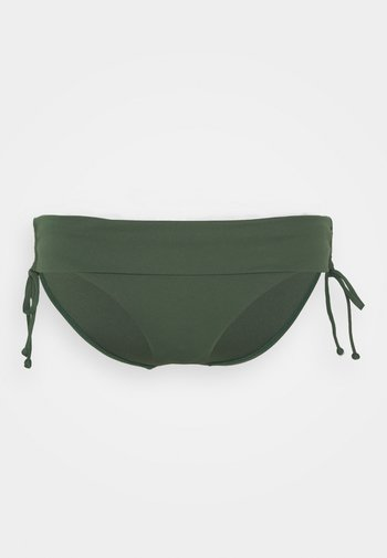 RUCHED SIDE HIPSTER - Bikini bottoms - ivy