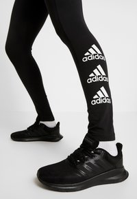 adidas Performance - ESSENTIALS SPORT INSPIRED COTTON LEGGINGS - Trikoot - black/white - 3