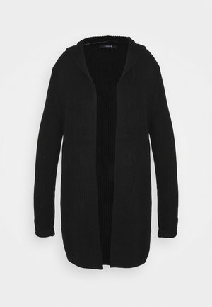 HOODED CARDIGAN - Cardigan - black