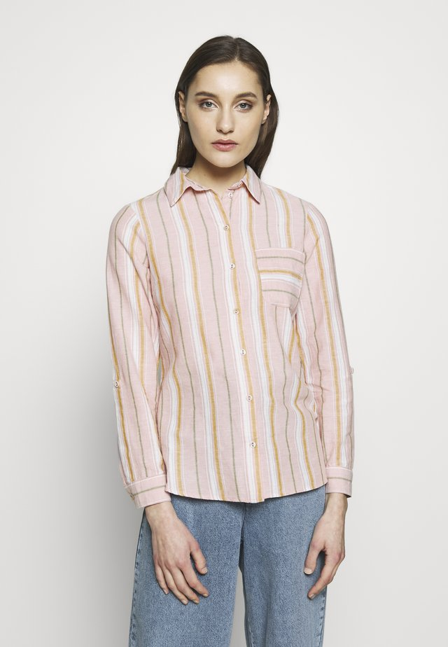 CLOSED COLLAR - Button-down blouse - pink