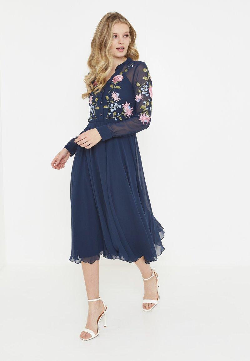 BEAUUT - Shirt dress - navy