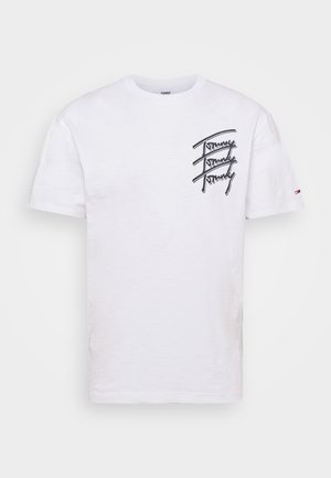 REPEAT SCRIPT TEE UNISEX - T-shirt con stampa - white