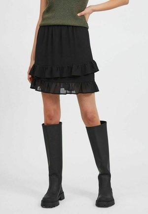 VIMINEA SHORT SKIRT - Mini skirt - black