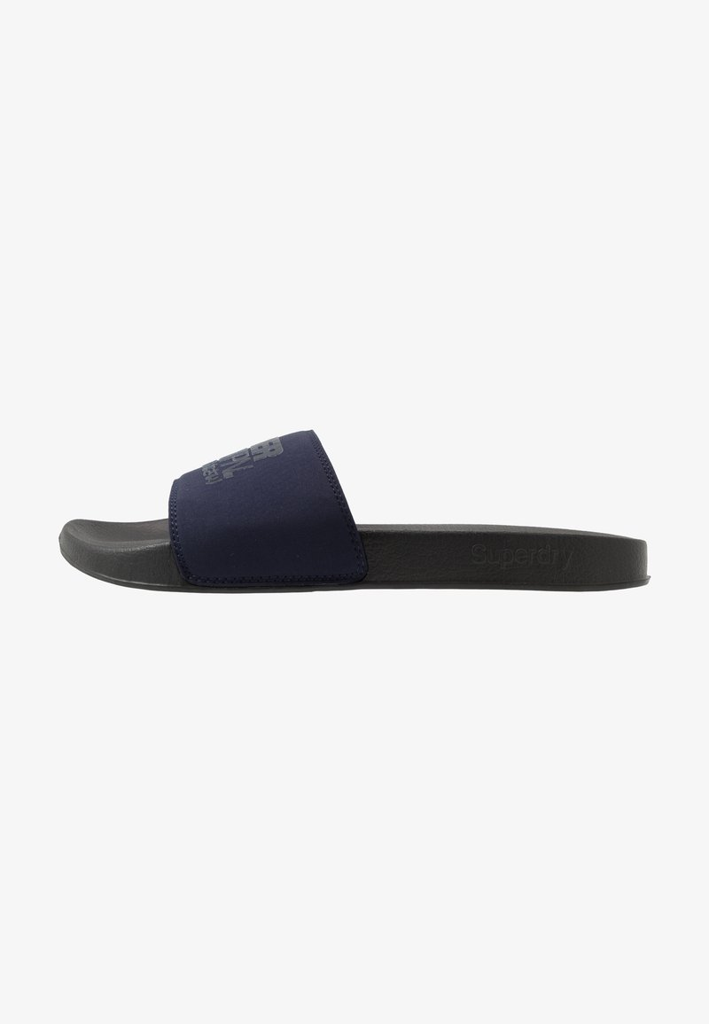 Superdry - SORRENTO POOL SLIDE - Pantofle - black/nautical navy