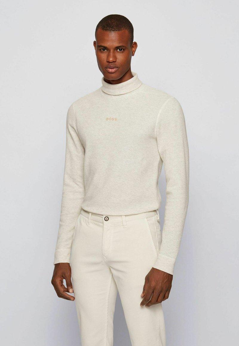 BOSS - TROLLFLASH - Long sleeved top - natural