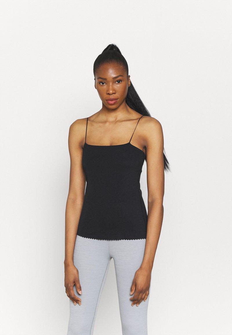 Nike Performance - LUXE EYELET TANK - Top - black