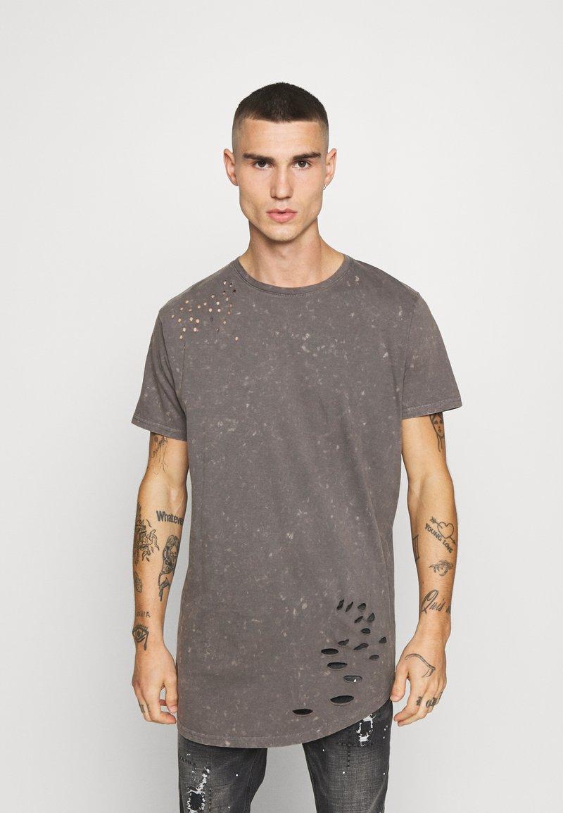 Brave Soul - GENKO - Print T-shirt - grey acid wash