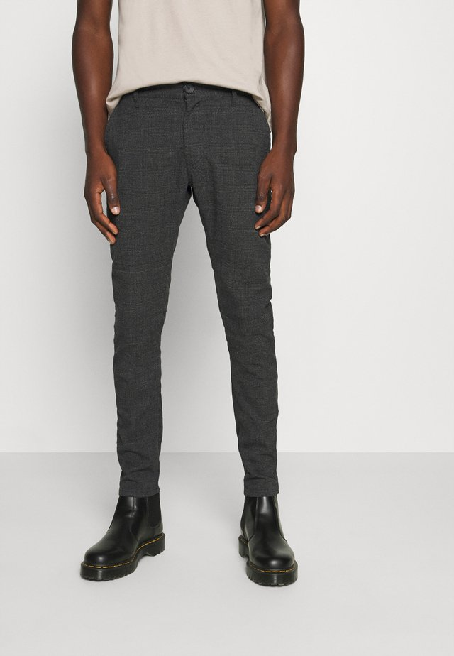 OXFORD - Pantaloni - charcoal prince of wales