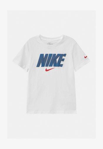 BLOCK LINES  - Print T-shirt - white