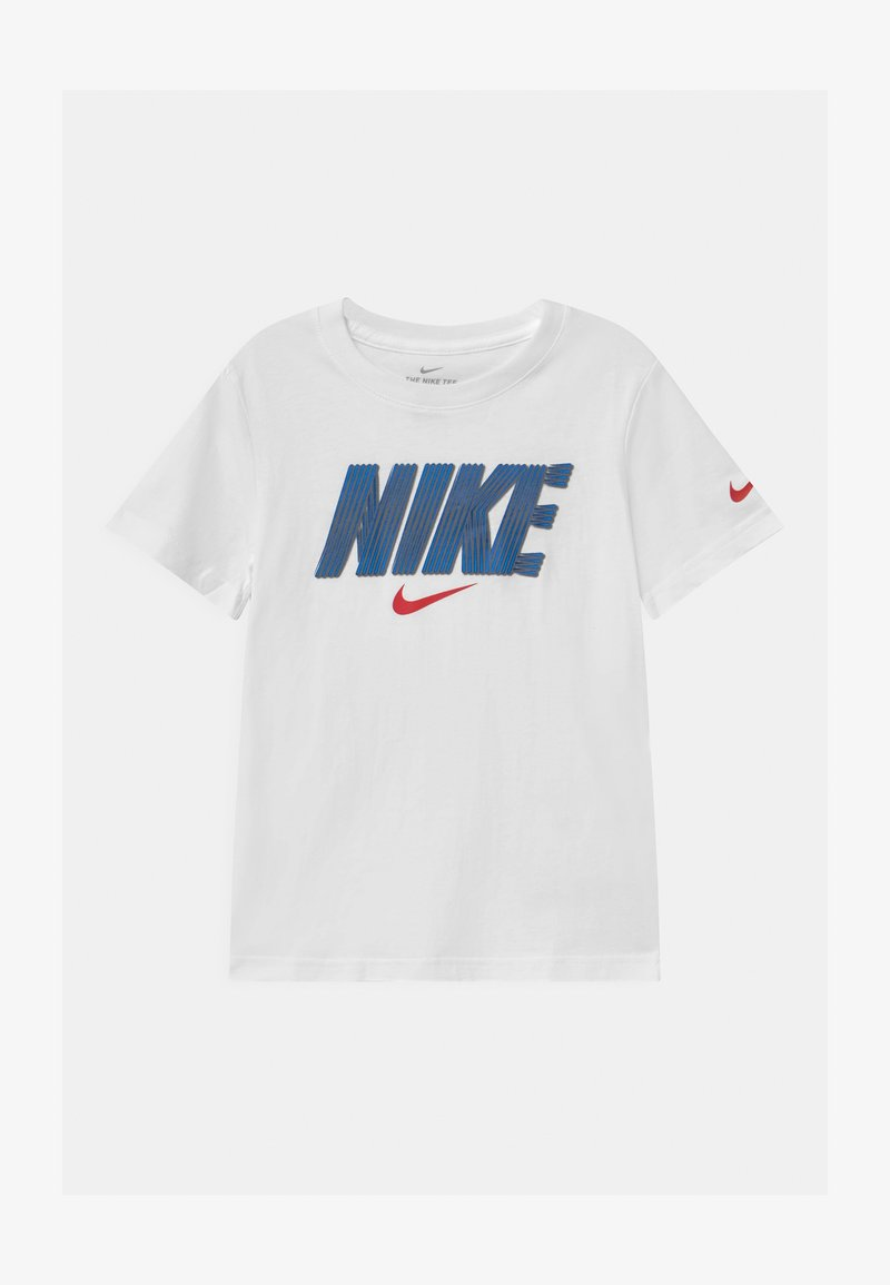 Nike Sportswear - BLOCK LINES  - Print T-shirt - white