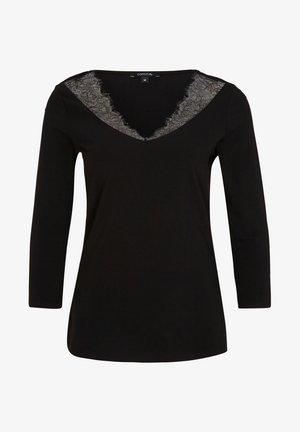 MIT FILIGRANER SPITZE - Long sleeved top - black