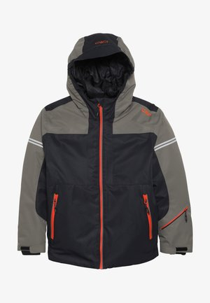 BOY JACKET FIX HOOD - Lyžařská bunda - antracite