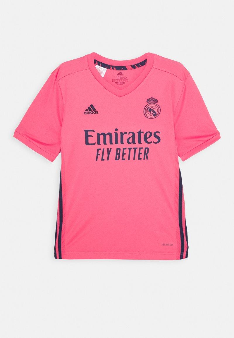 adidas Performance - REAL MADRID SPORTS FOOTBALL UNISEX - Klubové oblečení - pink