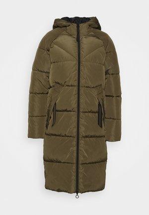 ONLMONICA PLAIN LONG PUFFER COAT - Winter coat - beech