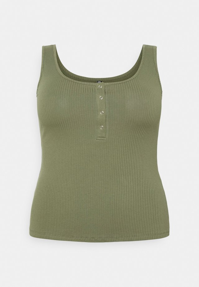 PCKITTE TANK - Top - deep lichen green