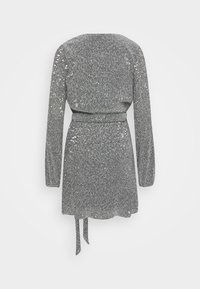 Nly by Nelly - WRAP SEQUIN DRESS - Cocktail dress / Party dress - dark silver - 1