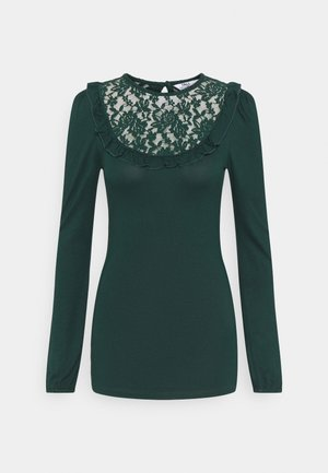 INSERT FRILL  - Long sleeved top - green