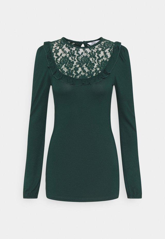 INSERT FRILL  - T-shirt à manches longues - green
