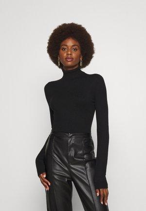 VMHAPPINESS ROLLNECK - Jersey de punto - black