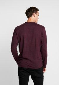 TOM TAILOR - STRIPED LONGSLEEVE - Long sleeved top - burgundy - 2