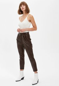 DeFacto - Trousers - brown - 3