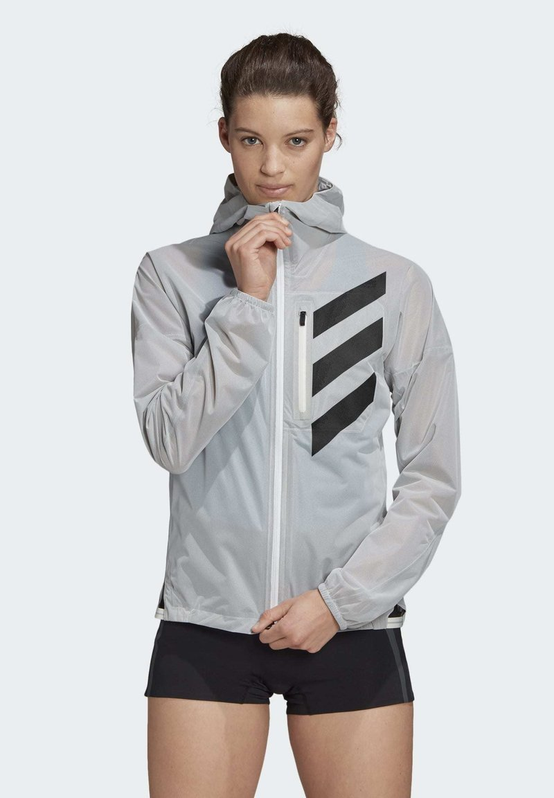 adidas Performance - AGRAVIC RAIN.RDY TRAIL RUNNING - Sports jacket - white