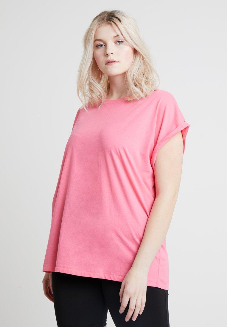 Urban Classics Curvy - LADIES EXTENDED SHOULDER TEE - T-shirt basic - pinkgrapefruit