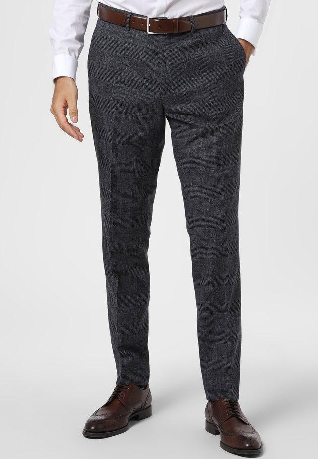 Trousers - blau grau