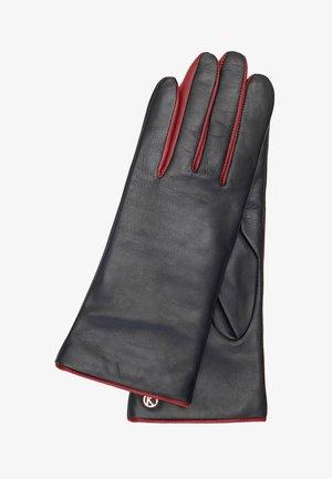 DELIA - Gloves - black/crimson