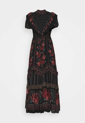EMBROIDERED FLORAL MAXI DRESS - Maxi šaty - multi
