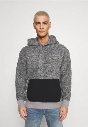 HOODIE - Luvtröja - mottled grey/black