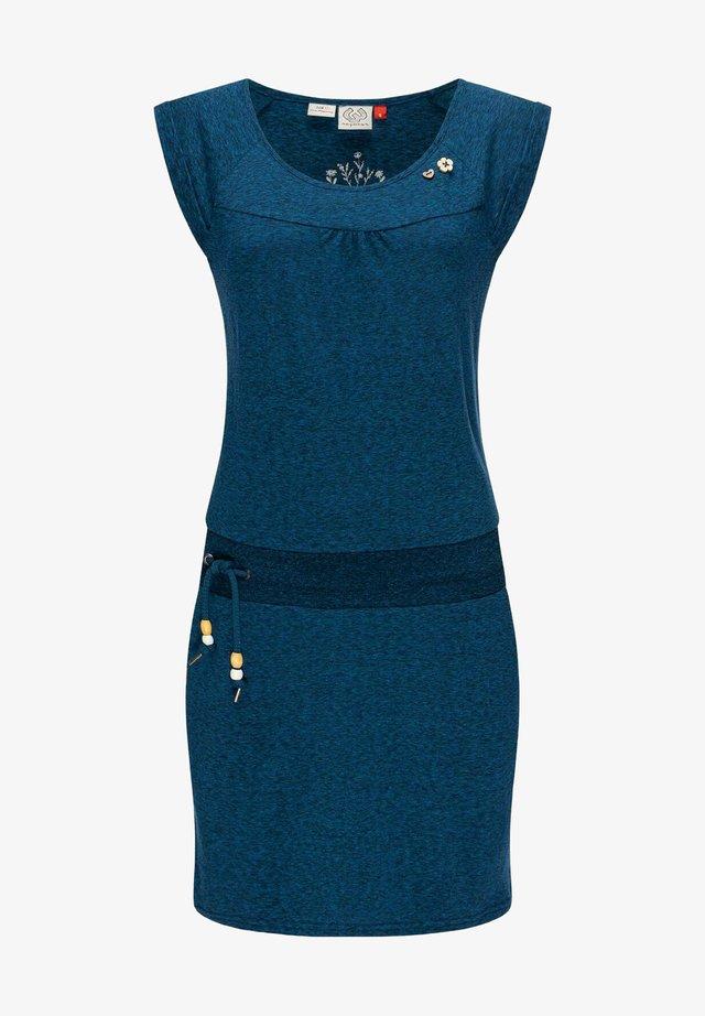 Korte jurk - blau metallic