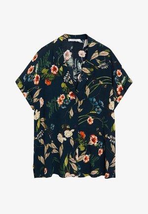 BOTANIC6 - Button-down blouse - petrolblau