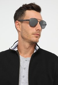 Polo Ralph Lauren - Sunglasses - semishiny dark gunmetal/silvercoloured mirror - 1